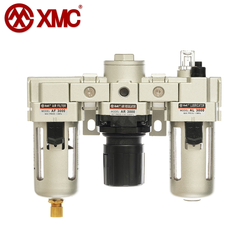 AC3000-02/03_Air Triple-Link Unit (3 Combination Unit, F+R+L)_A Series Air Source Treatment Units_XMC (HUAYI) Pneumatic